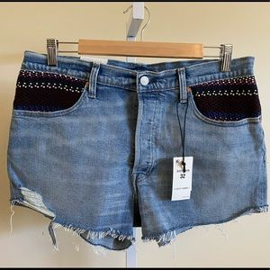 Levi's 501 Made & Crafted Pin Dot Denim Shorts 32